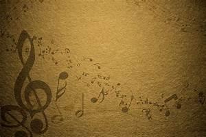 Yellow Vintage Music Notes Background - PhotoHDX
