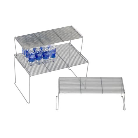 Stacking Shelf by Medium Flat Wire Stackable Shelves The Container Store