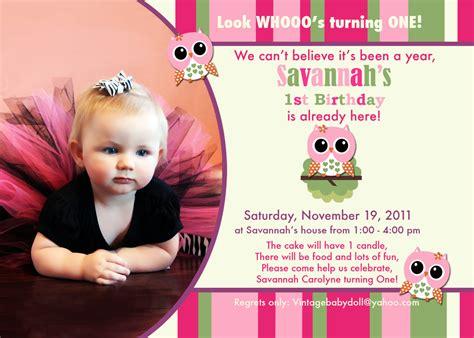 owl st birthday invitations ideas bagvania
