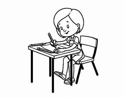 Desk Coloring Colorear Coloringcrew