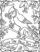 Sunny Coloring Pages Jay Colouring Gray Goose Mother Printable Print Days Sunnyday Coloringbay Getcolorings Drawings Searches Recent sketch template