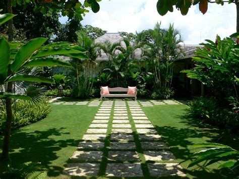 modern minimalist tropical garden design idea  ideas