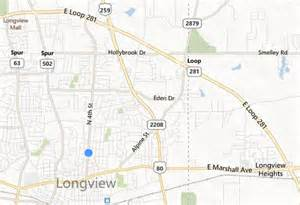 Texas Map Longview TX