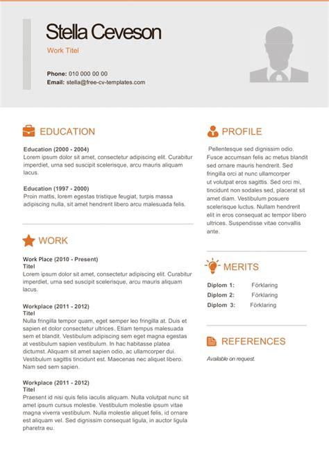 modern cv  resume templates land  job