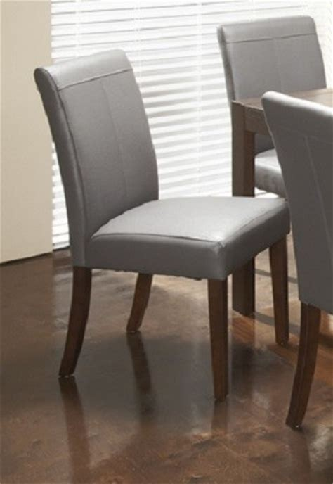 roberto grey leather dining chair modern dining chairs