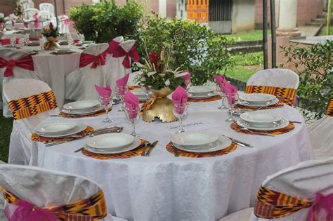 table de reception en rci gateaux de mariage en afrique