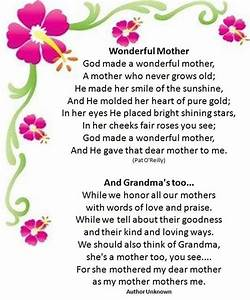Quotes And Poems About Mothers. QuotesGram