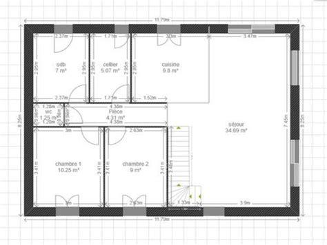 plan maison 6 chambres plan séjour emplacement baie vitrée 18 messages