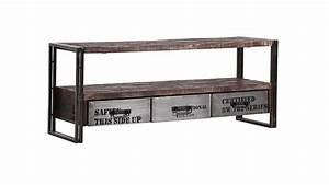 Tv Möbel Metall : lowboard titan metall antikfarben lackiert und mango massiv ~ Whattoseeinmadrid.com Haus und Dekorationen