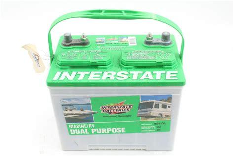 interstate battery dual purpose batteries marine rv propertyroom