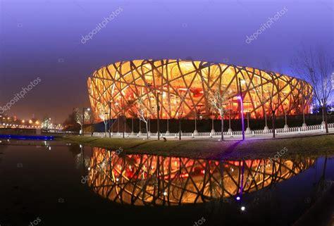 0 stadio olimpico di pechino premium high res photos. Stadio Olimpico di Pechino la sera — Foto Editoriale Stock ...