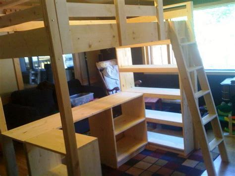 Ikea Bunk Bed With Desk And Shelf by Loft Bed With Desk Ikea Woodworking Projects Plans
