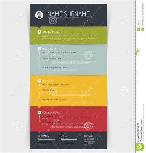cv resume template stock vector illustration  blue