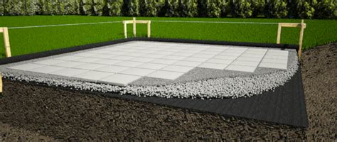 concrete pavers shed foundation caseta