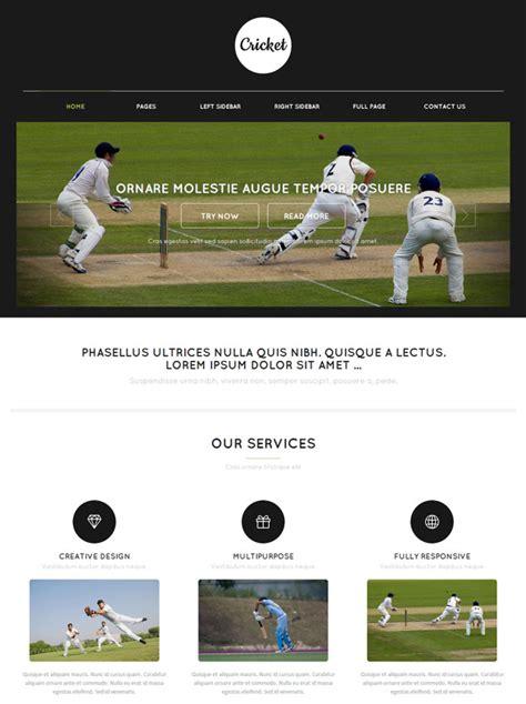 cricket web template cricket website templates