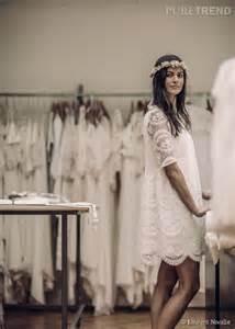 robe mariã e boheme dentelle mariage civil laure de sagazan présente ses robes de mariée chic et bohèmes