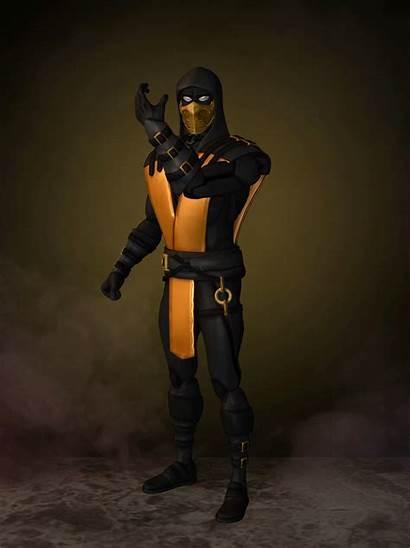 Scorpion Gold Xnalara Deviantart Romero1718 Smoke Kombat