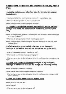 9 best images of wellness recovery action plan worksheets With recovery action plan template