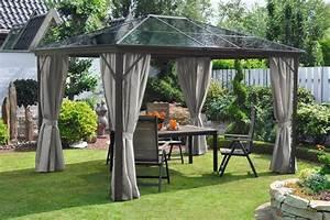 Gartenpavillon Metall Mit Festem Dach : leco pavillon profi pavillon bxt 300 x 365 cm otto ~ Bigdaddyawards.com Haus und Dekorationen