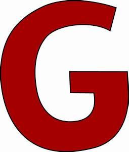 Red Letter G Clip Art - Red Letter G Image  G