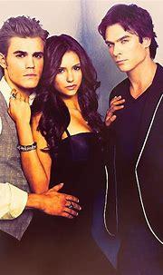 Stefan Elena Damon | Vampire diaries wallpaper, Vampire ...