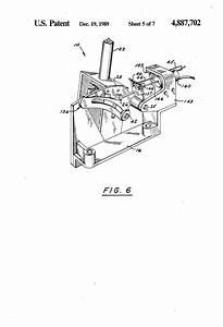Patent US4887702 Brake/shift interlock for an automatic