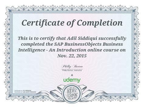 certificate courses certificate of completion sap bobi adil siddiqui s