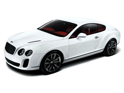 Top Left White 2010 Bentley Continental Super Sports Car