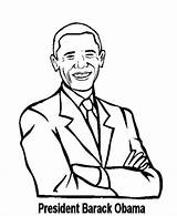 Obama Barack Coloring Pages Presidents Printable President History Clipart Beowulf Facts Cliparts Printables American African Dad Mom Outline Popular Americans sketch template
