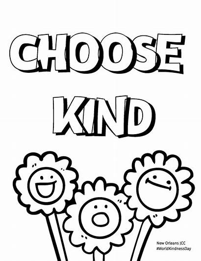 Kindness Acts Random Coloring Sheets Celebrate Kind