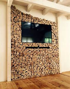TV Wand Selfmade Diy Holz Wohnzimmer Dahoam