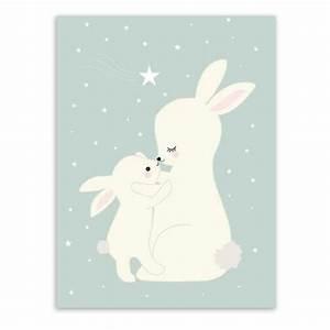 Poster Chambre Bébé : animal de dessin anim cerfs ours lapin poster b b enfants chambre wall art imprimer toile ~ Teatrodelosmanantiales.com Idées de Décoration