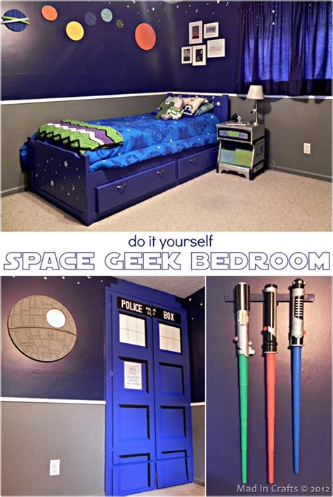 super space geek bedroom mad  crafts