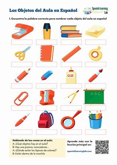 Classroom Objects Worksheet Spanish Pdf Spanishlearninglab Aula