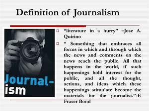 Journalism Journalism Definition