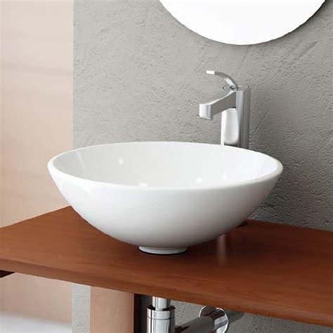 vasque 224 poser ronde 40 cm c 233 ramique balea