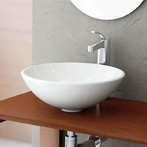 vasque a poser ronde 40 cm ceramique balea With salle de bain design avec vasque a poser ronde blanche