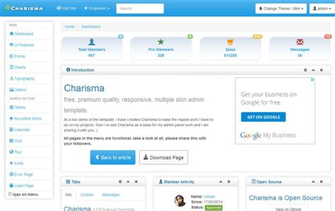 free admin template best responsive admin templates