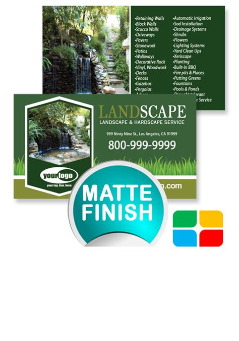 landscaping business cards la service print ads