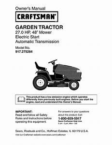 Craftsman Garden Tractor Manual