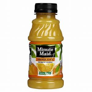 Minute Maid 100% Orange Juice 10 oz Plastic Bottles - Pack ...