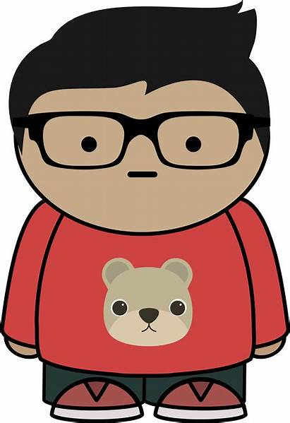 Glasses Boy Clipart Kid Vector Clip Cartoon