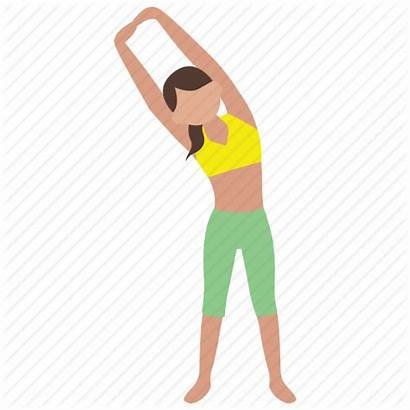 Exercise Fitness Clipart Animated Physical Stretching Cartoon