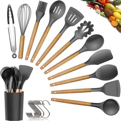 utensils silicone cooking utensil kitchen guide