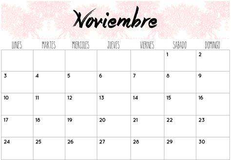 calendarios noviembre  calendario calendario tumblr
