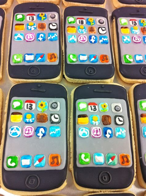 iphone cookies 25 best ideas about iphone cake on cake