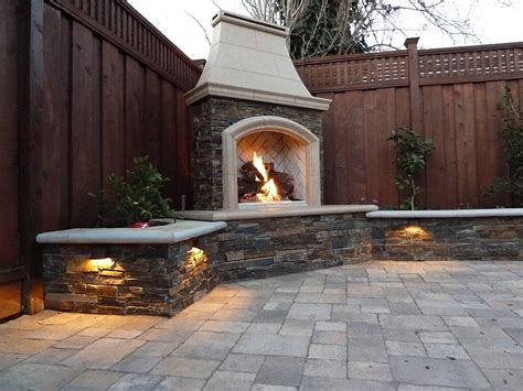 outdoor gas fireplace lighting gas fireplace simple home decoration