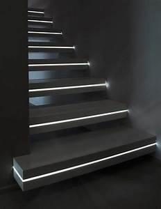 éclairage Escalier Extérieur : escalier int rieur quelques id es d 39 clairage moderne ~ Premium-room.com Idées de Décoration