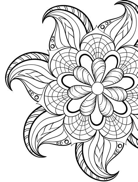 gorgeous  printable adult coloring pages
