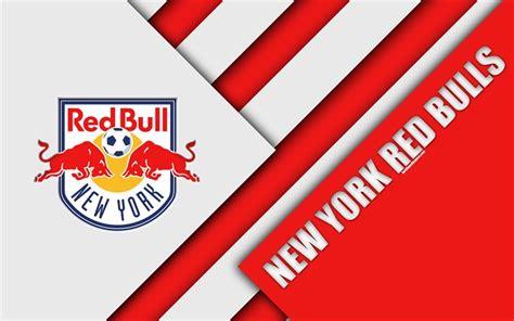 Download wallpapers New York Red Bulls, material design ...